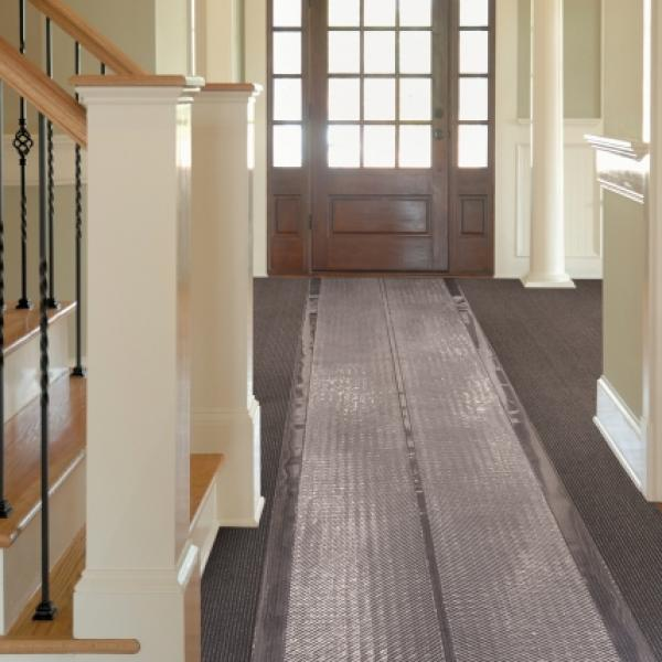 Vinyl Carpet Runner in hallway