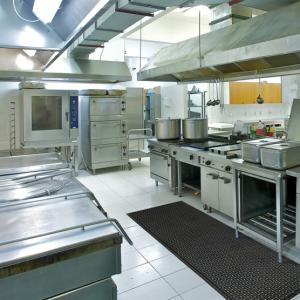 Comfort Clean Grit Top used in a commercial kitchen