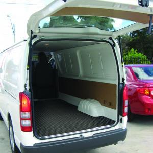 Rubber Matting Rolls in Van