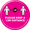 Please Keep A 1.5m Distance Floor Sticker