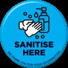 Santise Here Floor Sticker